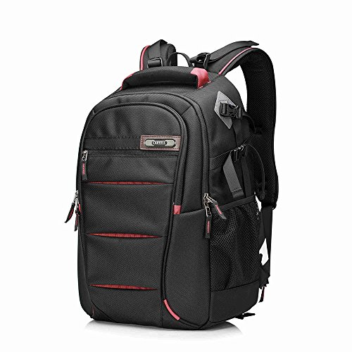 Kissfairy Professional DSLR Camera Laptop Backpack Multifunctional Shoulder Bag (Large, Red) by Kissfairy