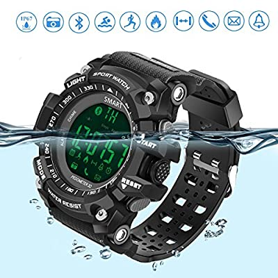 Sports Watch Smart Watch Bluetooth Watch with Android and IOS Smartphone Outdoor Waterproof IP67