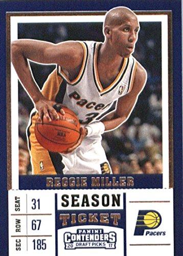 Indiana Pacers Draft - 2017-18 Panini Contenders Draft Picks Season Ticket White Jersey #41 Reggie Miller Indiana Pacers