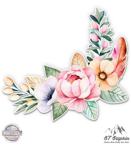Flower Bouquet Watercolor Boho Art - 12
