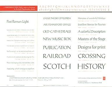 Amazon com: Post Roman Light & Italic typeface sheet