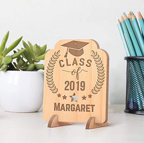 Center Gifts Personalized Class of 2019 Wooden Graduation Gift - Center Card Gift