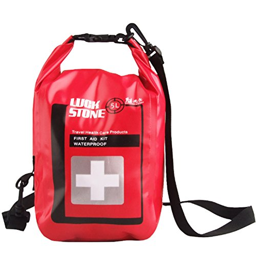 Dry Bag Sack Waterproof Roll Top Sack for First Aid Kit Floating Hiking Kayak Fishing Camping 5L Red