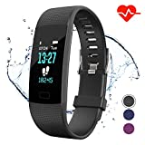 Apirka Fitness Tracker HR, Activity Tracker Watch with Heart Rate Monitor, IP67 Waterproof Pedometer. Sleep Monitor, Step Counter, Calories Counter for Women, Men, Kids