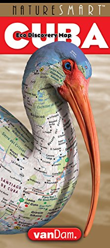 Cuba Map - NatureSmart Cuba Map by VanDam - Country Road & Eco Travel Map of Cuba mapping natural history, preservation & unique species - Laminated folding diving and hiking spots, 2017 Edition