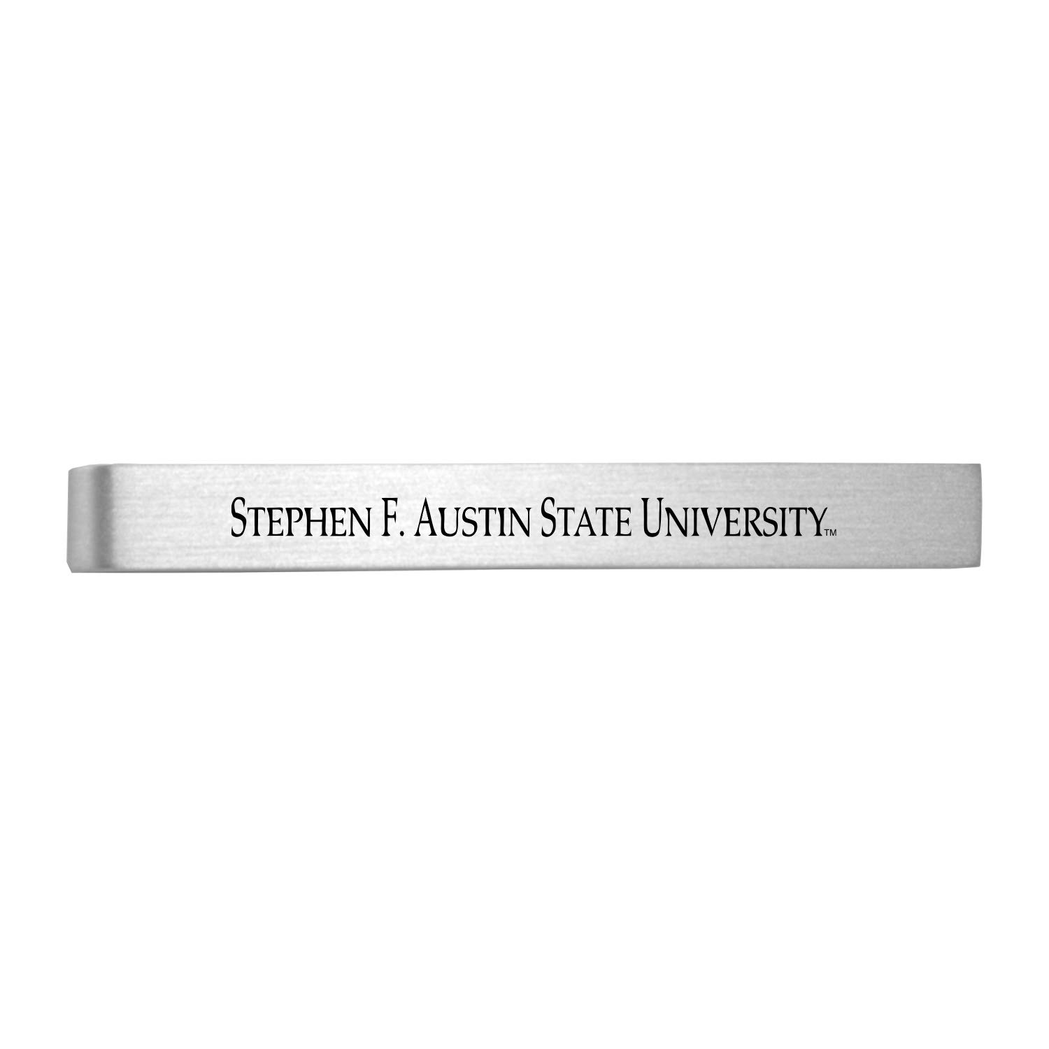 Austin State University-Brushed Metal Tie Clip-Silver Stephen F