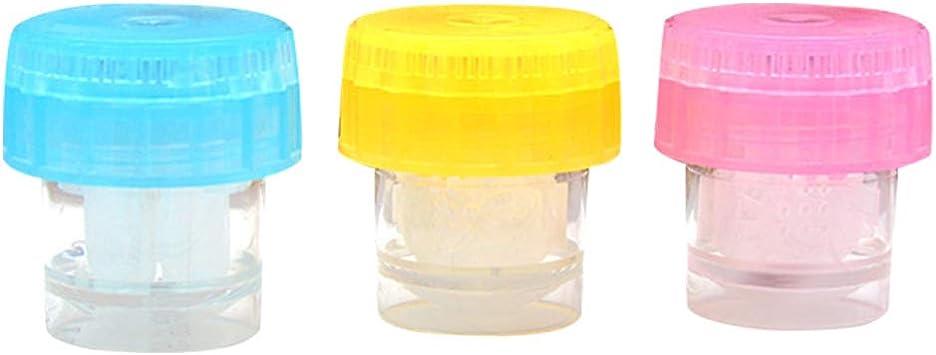 HEALIFTY Plastic Estuche de limpieza de lentes limpiadoras de lentes de contacto manual para viajes diarios al aire libre 3 piezas (amarillo + azul + rosa): Amazon.es: Salud y cuidado personal