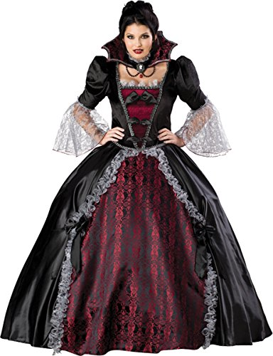 Plus Size Vampiress Halloween Costumes (InCharacter Costumes Women's Plus Size Vampiress Of Versailles Costume, Black/Burgundy, XXX-Large)