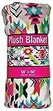 iscream 'Southwest Spring' Premium Plush 56'' x 60'' Bold Print Fleece Throw Blanket