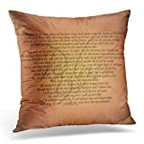 DIYCow Throw Pillow Covers Christian Psalm Bible Inspirational Home Cushion Case Decor Sofa Couch Square Size 20 x 20 Inches Pillowcase
