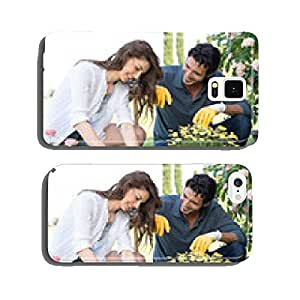 Couple Planting Plant In Garden cell phone cover case Samsung S6