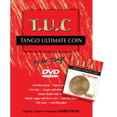 Tango Ultimate Coin (T.U.C) 50 cent Euro with instructional DVD by Tango by Tango Magic