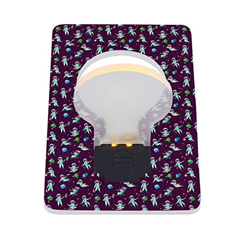 RFVPKAQZ Portable Card LED Night Light Household Credit Card Light Bulb Energy Saving American Astronaut Life LED Card Light 2 Packs