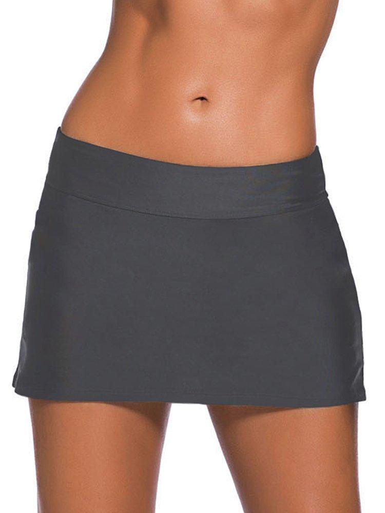 Jessie Kidden Women 's Active Athletic Skortスカートポケット付きfor RunningテニスゴルフワークアウトCheer Dance # 0327 B07BQSDRDY US S|グレー グレー US S