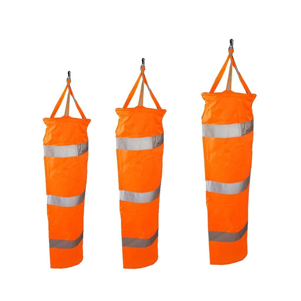 Flameer 3pcs Outdoor Safety Sport Airport Flag Wind Socks Windsock Reflective Belt