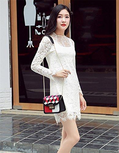 Paquete Portátil La Red De Moda Bolso Femenino Simple Mujer Sra Bao Lingge Personalidad Diagonal nt08wqOzO