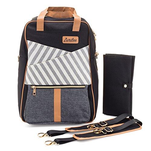 Unisex Designer Diaper Bag Backpack by Zurilee | Multi-Funct