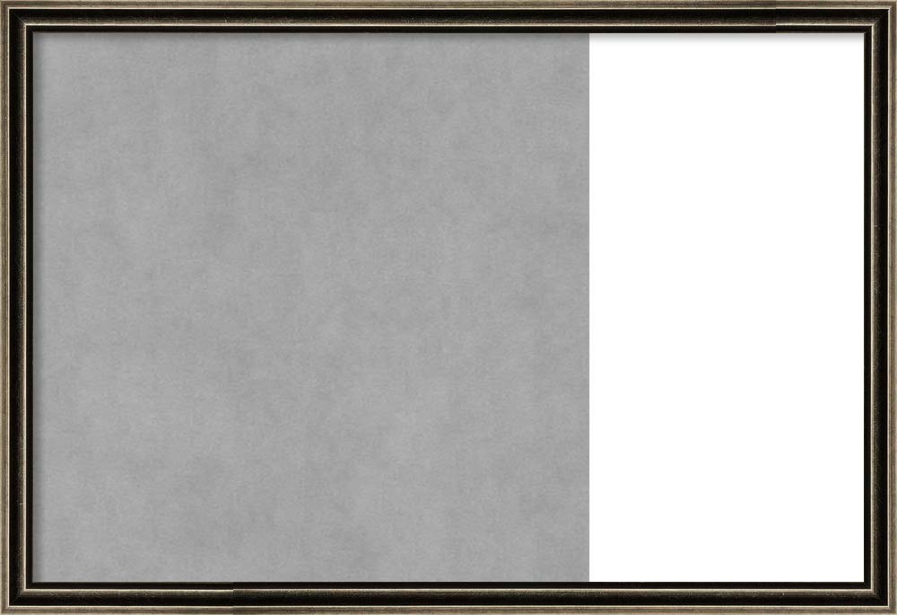 Framed Dry Erase and Magnetic Board Combo   Dry Erase Boards and Cork Boards   Multifunctional Combo Boards   Pewter Scoop Frame   28.62 x 19.62'' by Amanti Art