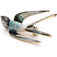 Ogquaton Precioso trago de cristal precioso animal broche pájaro solapa Pin insignia mujeres joyería