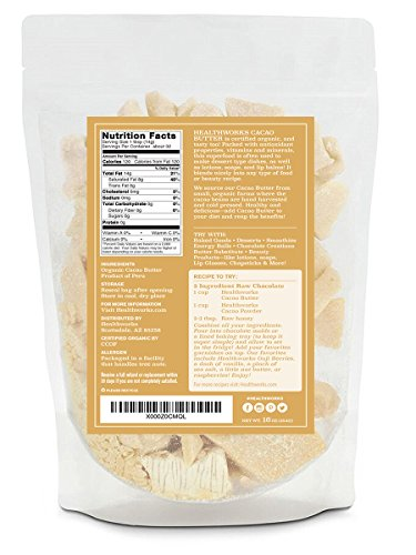 Healthworks Cacao Butter Raw Organic, 2lb (2 1lb Packs) by Healthworks (Image #2)