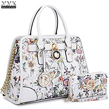 MMK collection Women Fashion Pad-lock Satchel handbags with wallet(2553)~Designer  Purse for Women ~Multi Pocket ~ Beautiful Designer Handbag ... 63c38658623b5