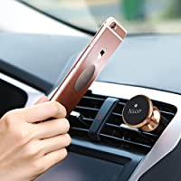 NICO Magnetic Cell Phone Car Mount Universal Hands-Free Air Vent Accessory 360° Adjustability Smartphone Versatility for iPhone 7s 6s Plus 6s 5s 5c Samsung Galaxy S7 Edge S6 S5 Note 5
