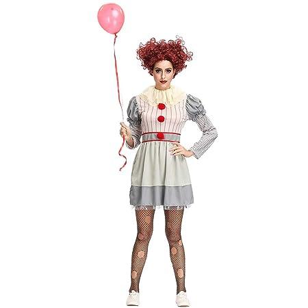 Auplew Disfraz de Payaso de Halloween, Disfraz de Payaso ...