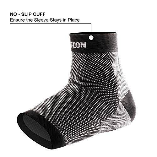 Portzon Compression Foot Sleeves, Plantar Fasciitis Socks with Arch Support, Foot Care Compression Sleeve, Eases Swelling & Heel Spurs, Ankle Brace Support, Relieve Pain Fast by Portzon (Image #3)