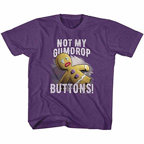 A&E Designs Shrek Toddler T-Shirt Gingerbread Man Gumdrop