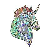 Dark Spark Decals Rainbow Skull Faced Unicorn - 4