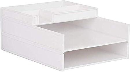 Archivadores de 3 capas de plástico para escritorio, archivador, archivador, caja de almacenamiento, escritorio, oficina, hogar, oficina, mobiliario de oficina: Amazon.es: Hogar
