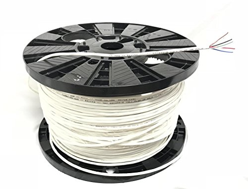 Custom Cable Connection 22 AWG 6 Conductor Stranded Shielded Plenum CMP Cable, white 500ft Spool