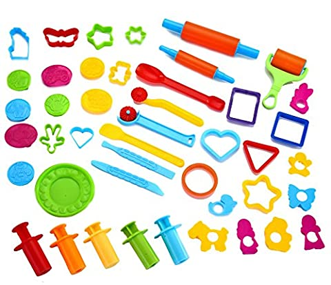 Joyin Toy 44 Pieces Clay Dough Tools Kit with Models and Molds. (Playdoh People)