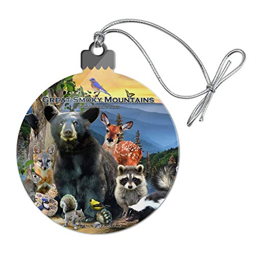 (GRAPHICS & MORE Great Smoky Mountains National Park Animals North Carolina Tennessee Acrylic Christmas Tree Holiday Ornament )