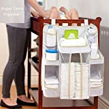 Cribs with Changing Table on Sale SUZM Diaper Caddy Organizer, Multi-Use Hanging Nursery Storage for Newborn Baby Essentials, Baby Shower Gift Hang on Crib, Changing Table Or Wall Style A 18
