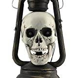 Fewear 2019 Halloween Haunters Pirate Skull Lantern Spooky LED Night Light Lamp for Halloween Horror Party Prop Decoration (A)