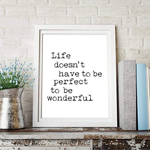 Amazoncom Life Doesnt Have To Be Perfect To Be Wonderful Quote