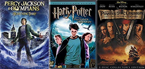 Young Adult 3-Movie Bundle - Harry Potter and the Prisoner of Azkaban (2-Disc FS), Pirates of the Caribbean: The Curse of the Back Pearl (2-Disc) & Percy Jackson & The Olympians: The Lightning Thief