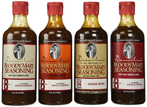 Demitri's Bloody Mary Seasoning Mix 16 oz Variety Pack - Set of 4