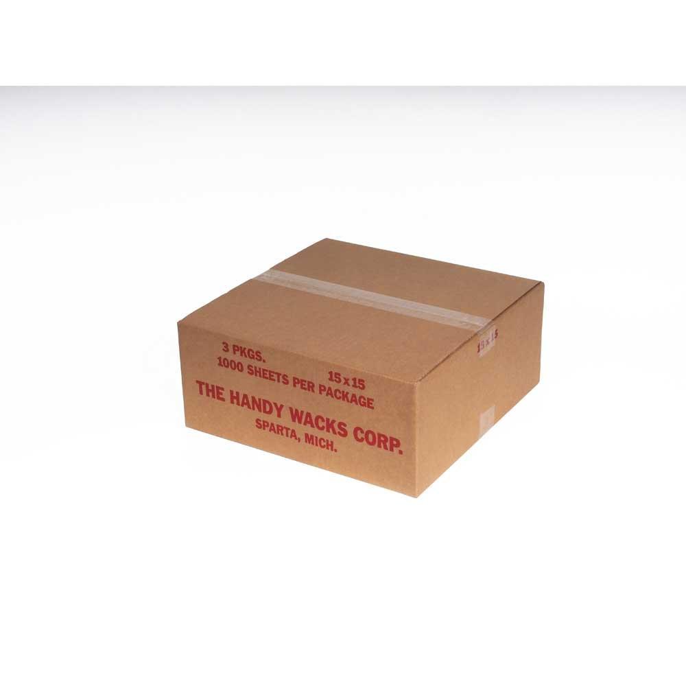 Handy Wacks Green Check Deli Paper, 1000 sheets per pack - 3 per case.