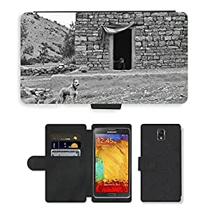 PU LEATHER case coque housse smartphone Flip bag Cover protection // M00133367 Dog Farm Boy Inicio Casa Pobre // Samsung Galaxy Note 3 III N9000 N9002 N9005