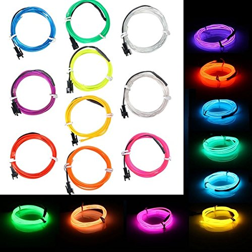 Lights & Lighting - 1m El Led ble Soft Tube Wire Neon Glow Car Rope Strip Light Xmas Decor Dc 12v - Wire Blue Neon Light Lights Electroluminescent - 1PCs