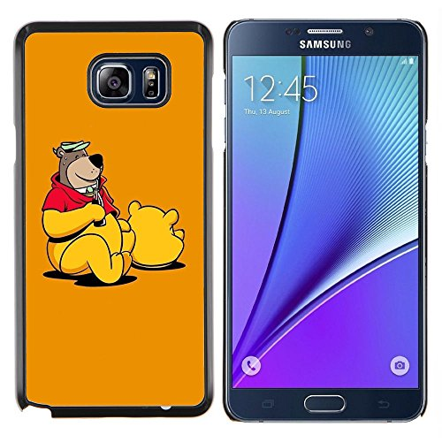 Snap-on Series Plastic Back Case Shell Skin Cover for SAMSUNG Galaxy Note5 / Note5 Duos / N920 , ( Funny Bear Costume (Costume Duos)