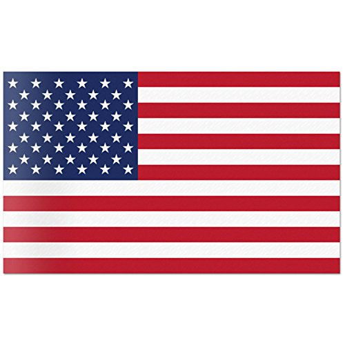 Red Hound Auto American Flag Wall Graphic Super Large Removable 3 Feet Wide 36 Inch Premium Made in USA Vinyl Peel and Stick Decal Sticker