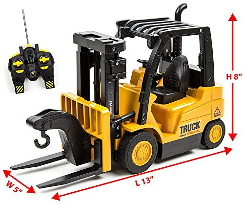 Toysery Functions Remote Control Truck Forklift Toy Play Set Vehicle...
