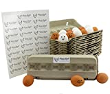 Egg Cartons (18-Pack); Each for One Dozen, Eco-friendly Recycled Material Biodegradable 12-count Egg Cartons w/Labels