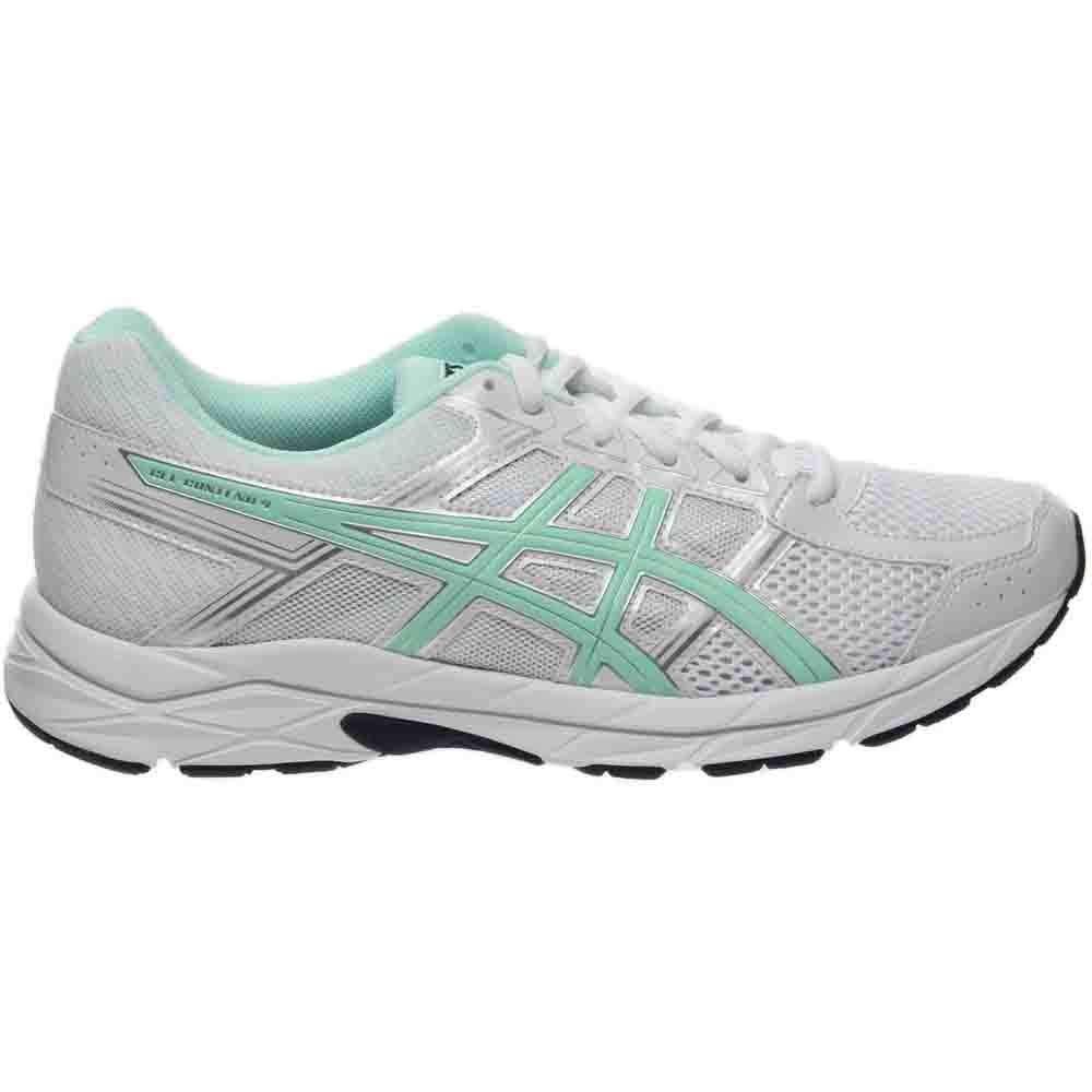 ASICS Women's Gel-Contend 4 Running Shoe, White/Bay/Silver, 5 M US by ASICS (Image #2)