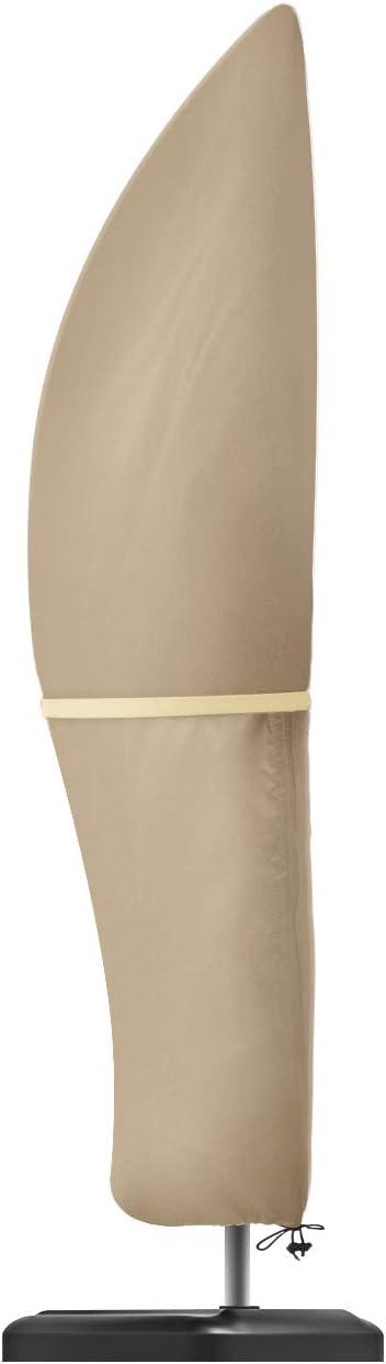 Homitt Patio Umbrella Cover, Cantilever Outdoor Umbrellas Cover, Offset Market Durable Umbrella Cover, Parasol Waterproof Umbrellas Cover with Zipper, Suitable for 7ft to 11ft(Beige)