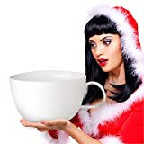 World Backyard Largest Coffee Mug Biggest Ceramics Coffee Cup Funny Tea Cup, Storage Christmas Decoration White
