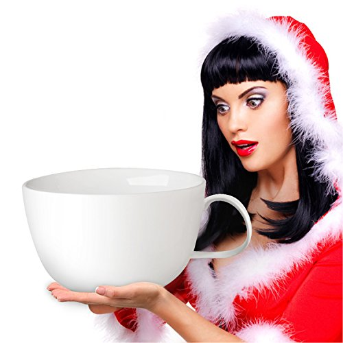 World Backyard Largest Coffee Mug Biggest Ceramics Coffee Cup, Storage Christmas Decoration White (Worlds Largest Cup)